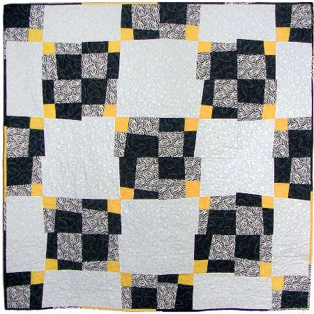 A quilt project, 'Four Play 2,' by Joy-Lily. Click to enlarge.