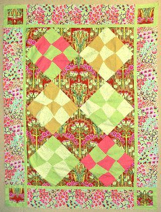 A quilt project, 'Garden Path,' by Joy-Lily. Click to enlarge.