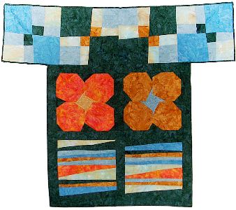 A quilt project, 'Happycoat,' by Joy-Lily.