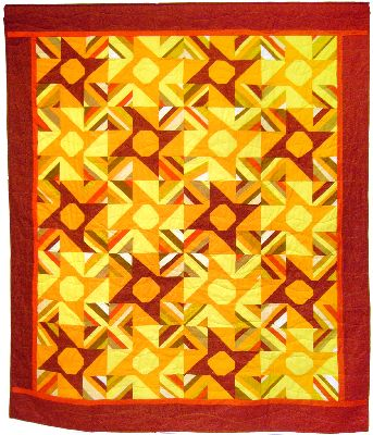 A quilt project, 'Heatwave,' by Joy-Lily.