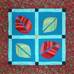 A small quilt, 'Leafcover 2,' by Joy-Lily. Click to enlarge.