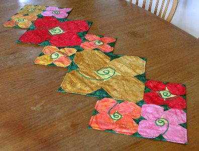 A quilt project, 'Snowflower,' by Joy-Lily.