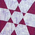 A quilting block from Joy-Lily's new book, Carefree Quilts.