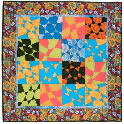 A quilt project, 'Jewish Baby Quilt' by Joy-Lily. Click to enlarge.