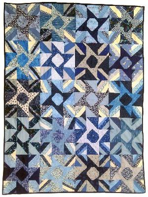 A quilt project, 'Blue Tuscan Sun' by Joy-Lily.