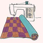 Thumbnail illustration from Joy-Lily's new book, Carefree Quilts.