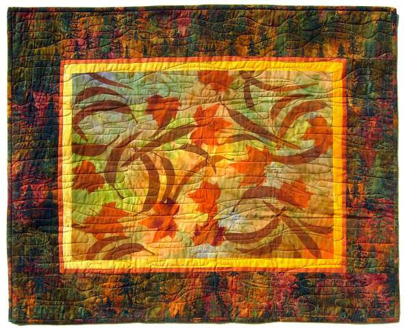 Quilt by Joy-Lily titled: Floating Leaves. Click to enlarge.