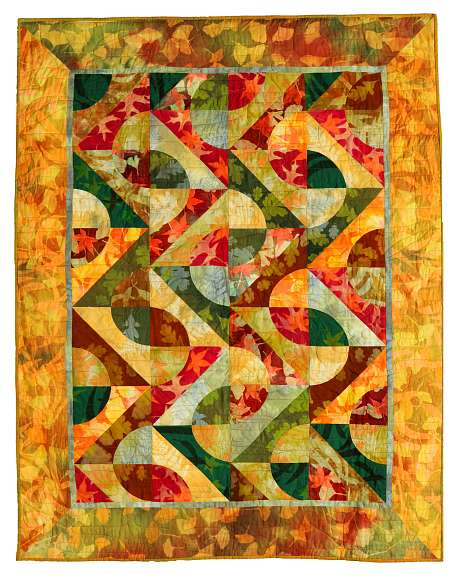 Quilt by Joy-Lily titled: Lattice Leaves. Click to enlarge.