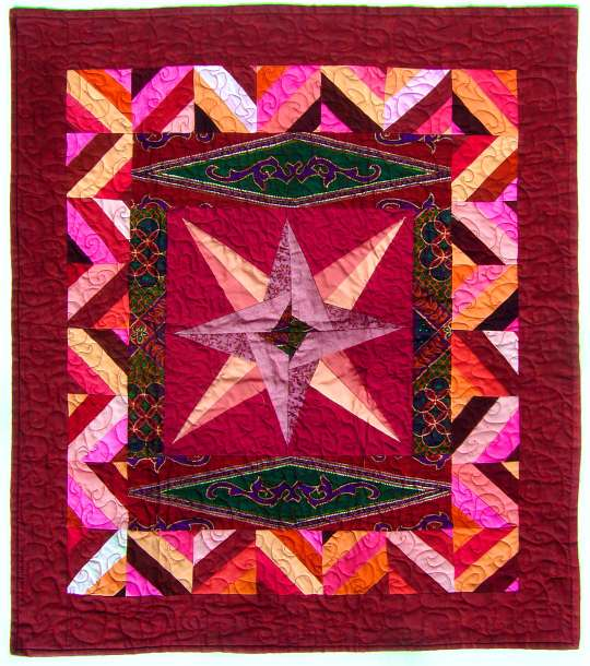 Quilt by Joy-Lily titled: Persian Star. Click to enlarge.