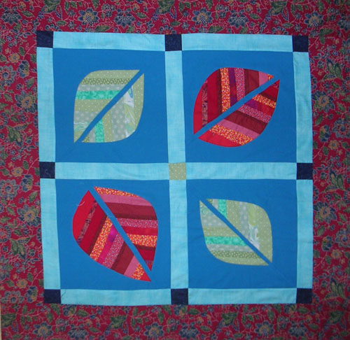 Quilt by Joy-Lily titled: Red Leaves Baby Quilt.