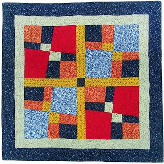 quilt by Joy-Lily using irregular 4play blocks