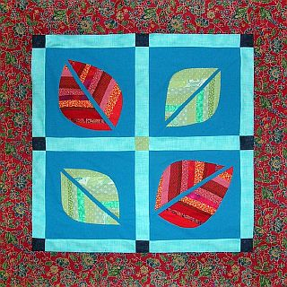 Red leaf quilt by Joy-Lily