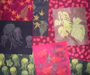 fabrics by Joy-Lily: leaves and jellyfish