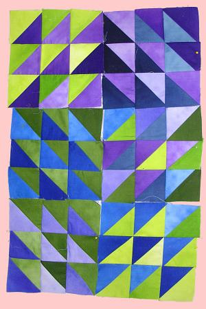 Gradient half squares by Joy-Lily